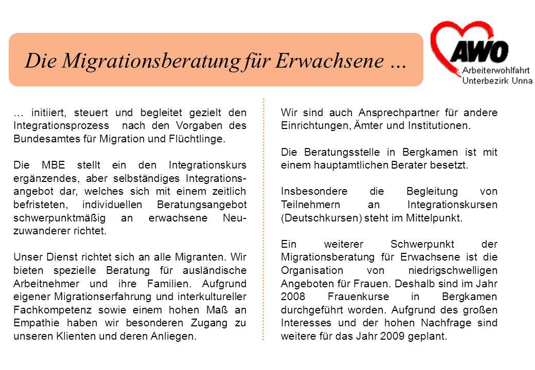 Die Integrationsagentur … … ist ein Programm des MGFFI des Landes NRW.