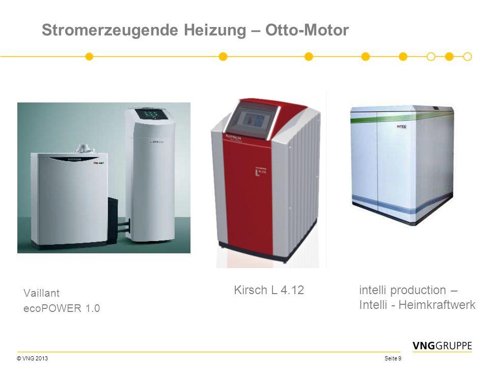 © VNG 2013 Seite 9 Stromerzeugende Heizung – Otto-Motor Vaillant ecoPOWER 1.0 Kirsch L 4.12intelli production – Intelli - Heimkraftwerk