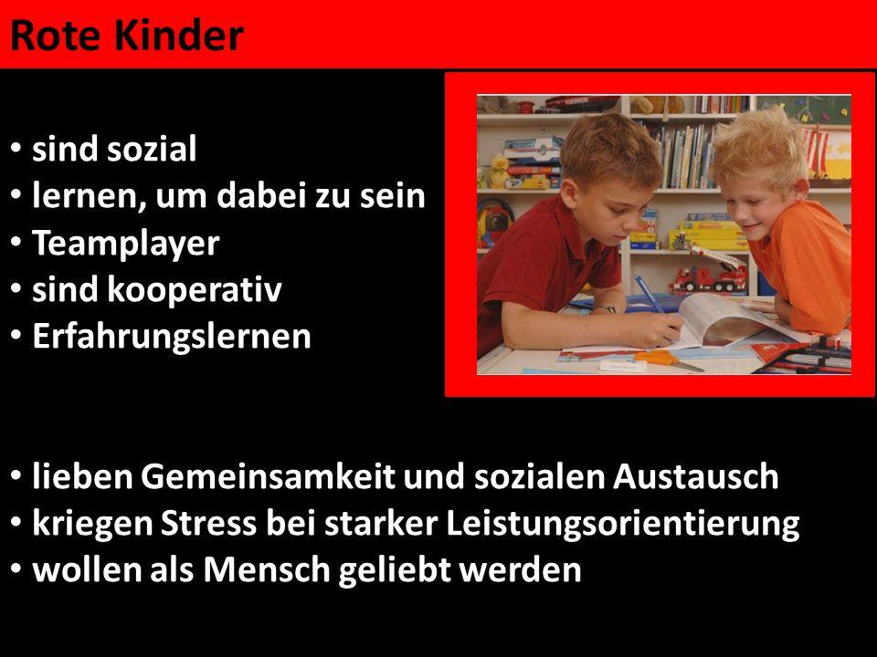 Rote Kinder sind sozial lernen, um dabei zu sein Teamplayer sind kooperativ Erfahrungslernen lieben Gemeinsamkeit und sozialen Austausch kriegen Stres