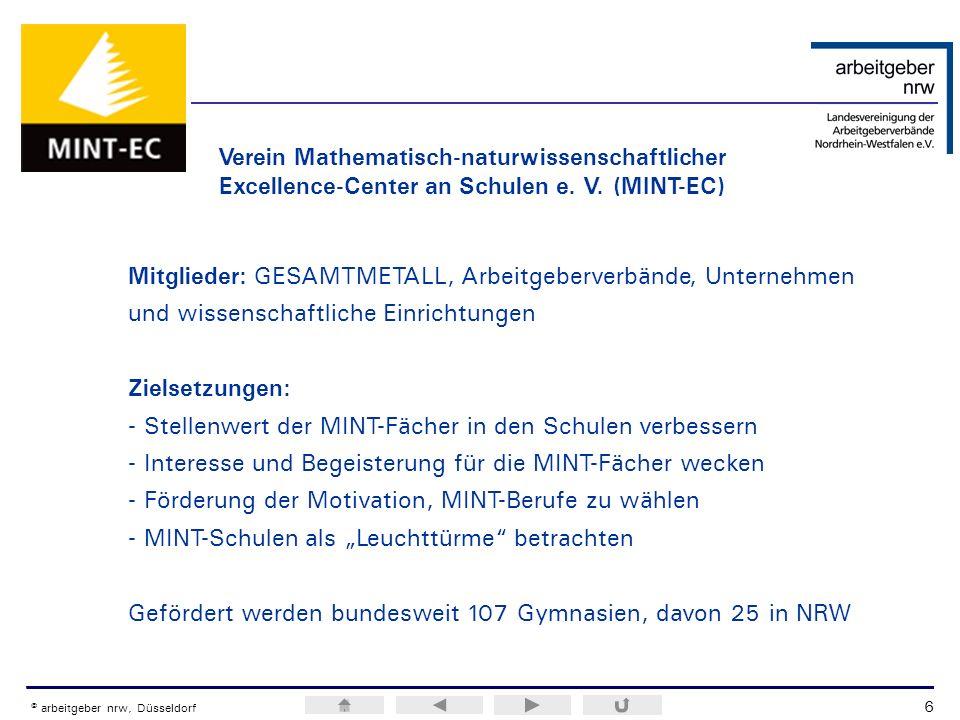 ERA / H.M.Weiss © arbeitgeber nrw, Düsseldorf Verein Mathematisch-naturwissenschaftlicher Excellence-Center an Schulen e. V. (MINT-EC) Mitglieder: GES