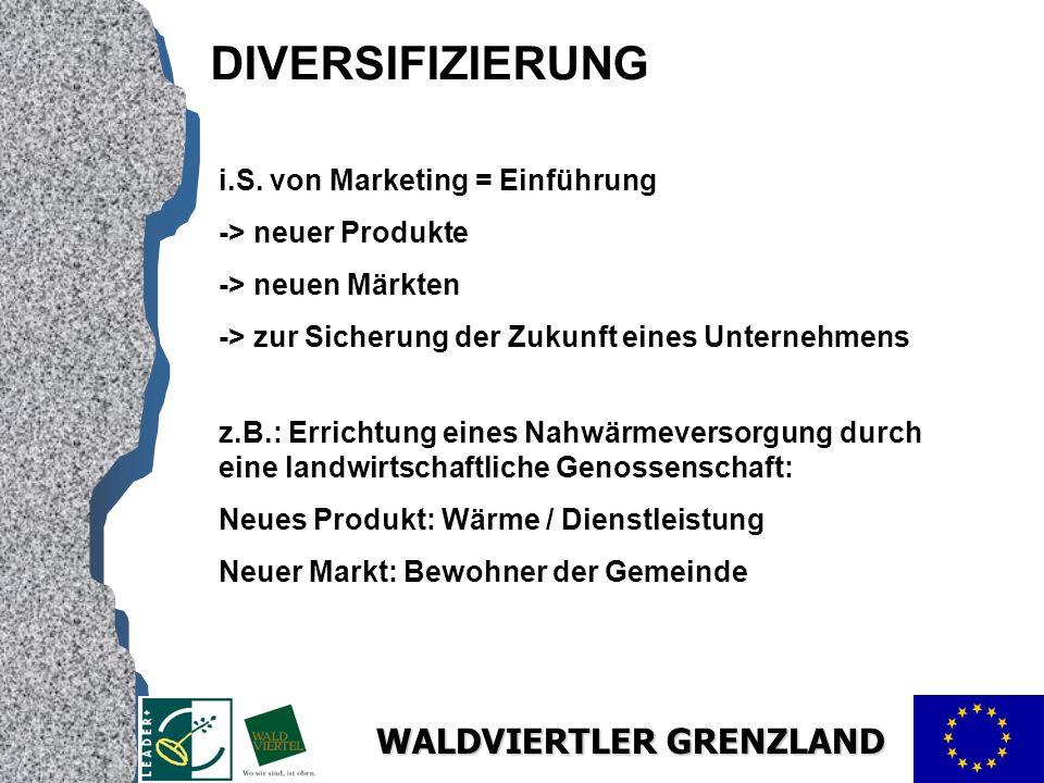 WALDVIERTLER GRENZLAND DIVERSIFIZIERUNG i.S.