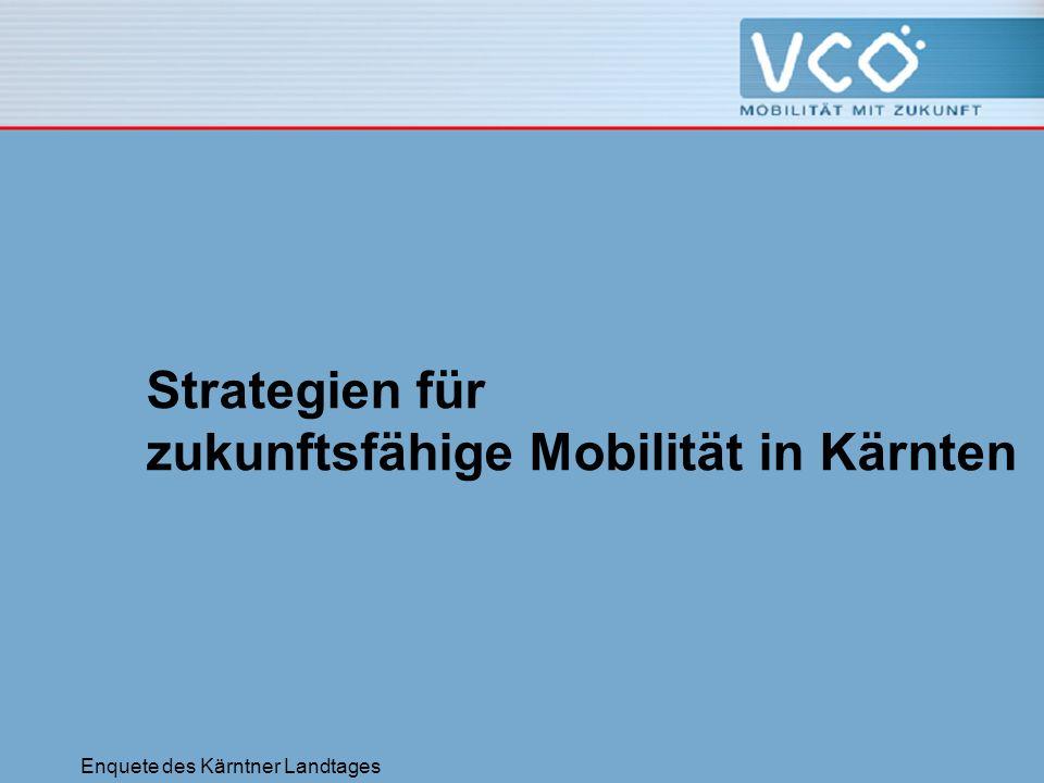 Enquete des Kärntner Landtages Strategien für zukunftsfähige Mobilität in Kärnten