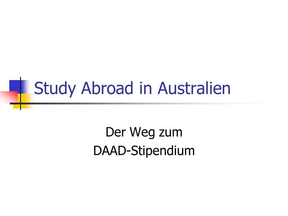Study Abroad in Australien Der Weg zum DAAD-Stipendium