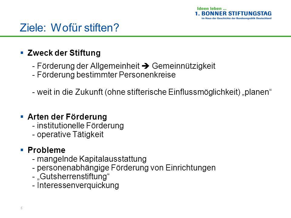 6 Wege zur Stiftung: Wie stiften?