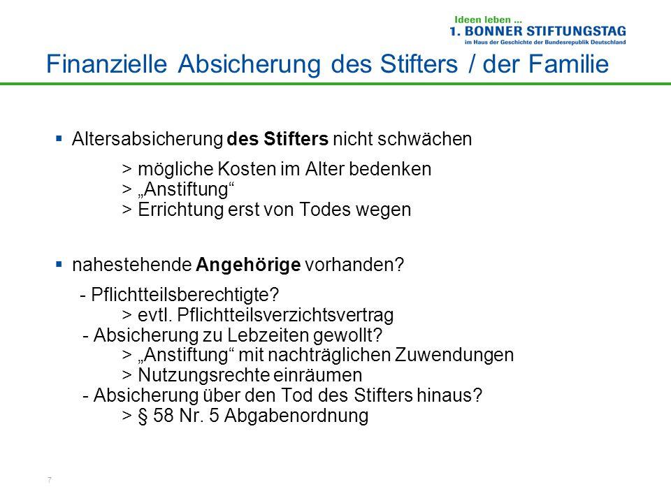 18 www.stiften-wirkt.de RA Erich Steinsdörfer DSZ – Deutsches Stiftungszentrum im Stifterverband für die Deutsche Wissenschaft Barkhovenallee 1, 45239 Essen Tel.: 0201/84 01-165 Fax: 0201/84 01-255 Email: e.steinsdoerfer@stifterverband.de