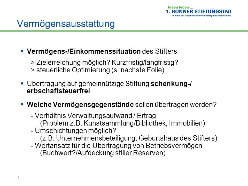 9 Exkurs: Steuerliche Abzugsmöglichkeiten - Einkommensteuerpflichtiger - bisher: Allgemeiner Spendenabzug § 10b Abs.