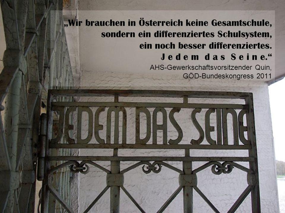 Wir brauchen in Österreich keine Gesamtschule, sondern ein differenziertes Schulsystem, ein noch besser differenziertes.
