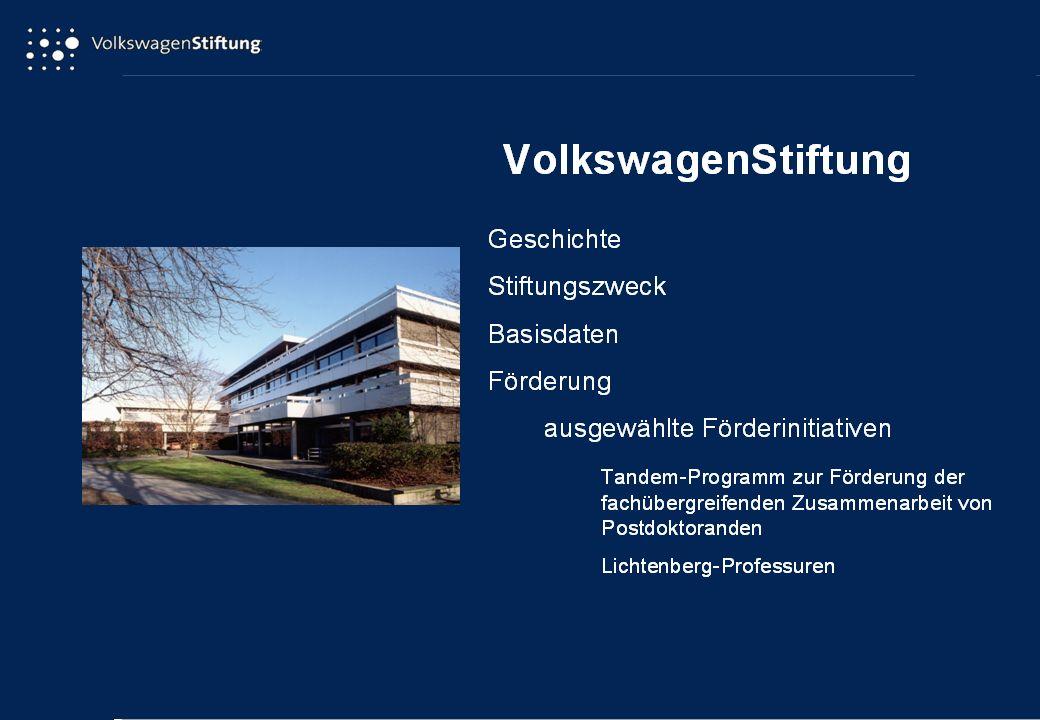 Nachwuchsgruppen an Universitäten Einrichtung der Förderinitiative: 1997 Bewilligungen (bis 31.