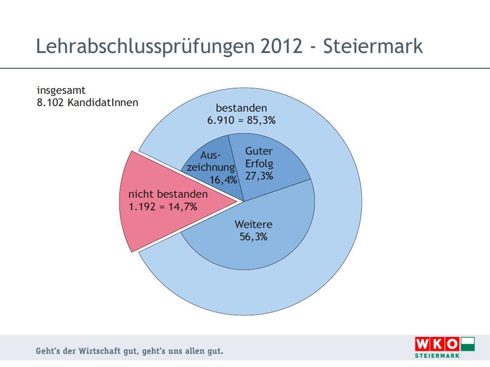Lehrabschlussprüfungen 2012 - Steiermark