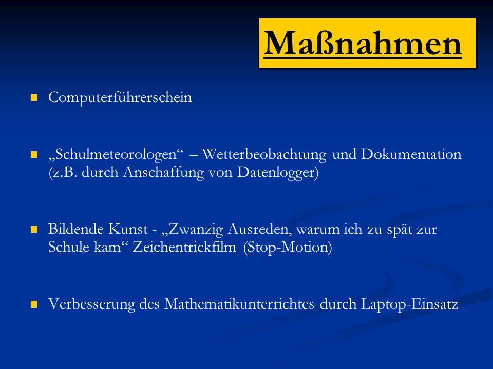 Computerführerschein Schulmeteorologen – Wetterbeobachtung und Dokumentation (z.B.