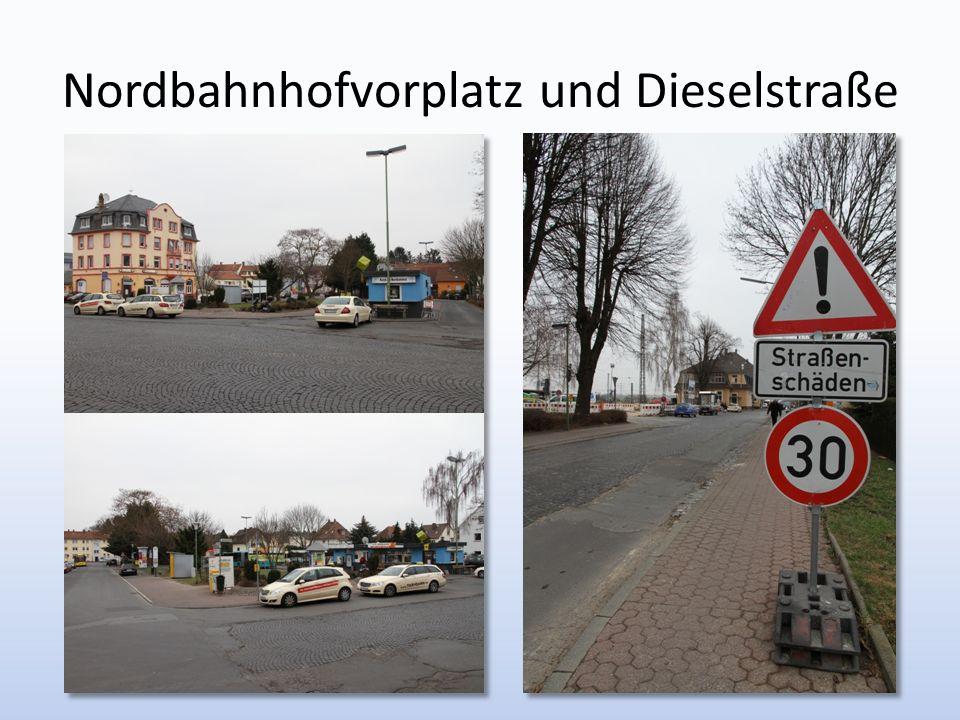 Nordbahnhofvorplatz und Dieselstraße