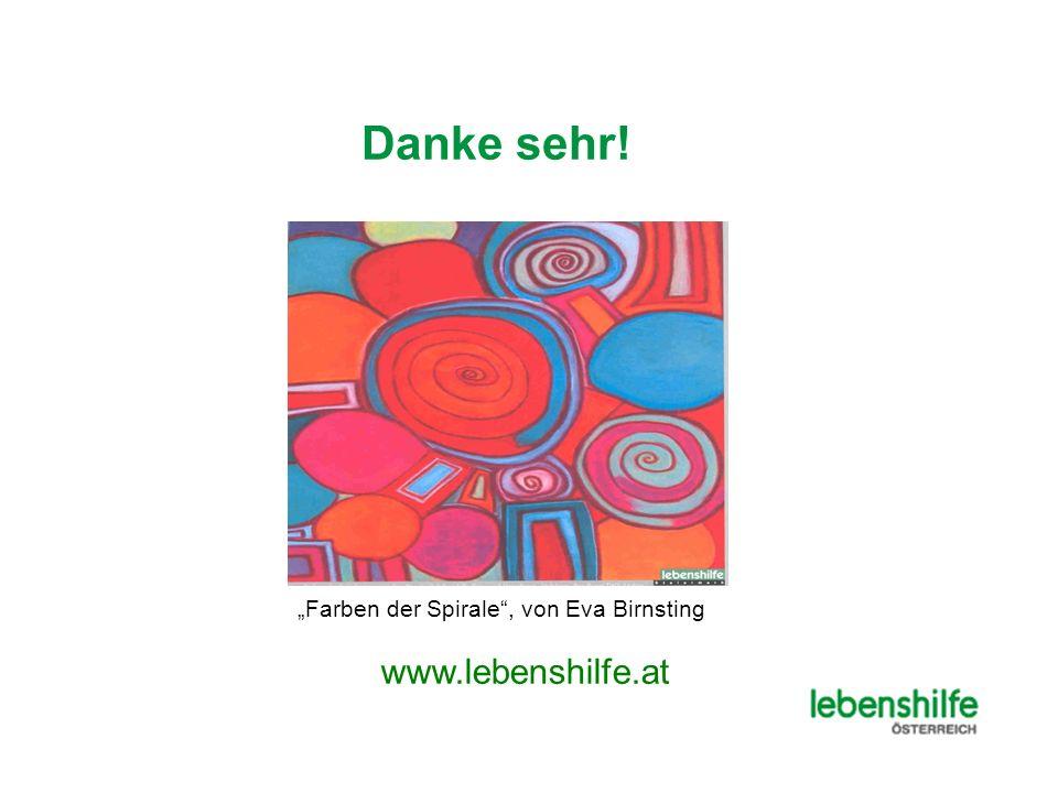 Danke sehr! Farben der Spirale, von Eva Birnsting www.lebenshilfe.at