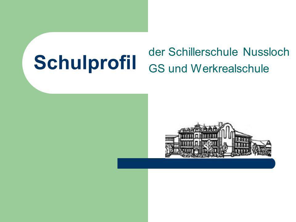 Schulprofil der Schillerschule Nussloch GS und Werkrealschule