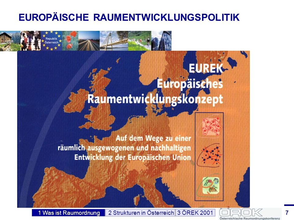 8 KOMPETENZVERTEILUNG in Österreich Gemeinden (2351), Bundesländer (9), Bund Planung auf 3 Verwaltungsebenen in Österreich Kompetenzverteilung nach Bundesverfassungsgesetz: Hauptkompetenz für Raumordnung und Raumplanung in Österreich liegt bei den Ländern (Gesetzgebungskompetenz für ROG) Bund eskompetenz für jene Materien, die dem Bund ausdrücklich übertragen sind, z.