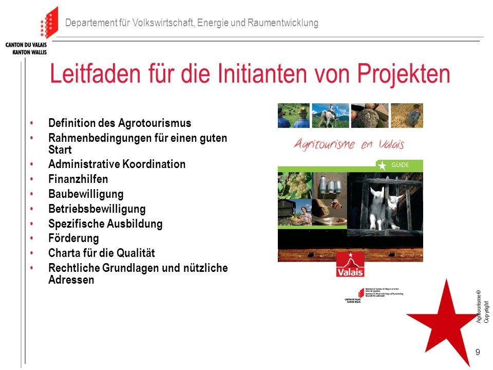 Leitfaden für die Initianten von Projekten Definition des Agrotourismus Rahmenbedingungen für einen guten Start Administrative Koordination Finanzhilf