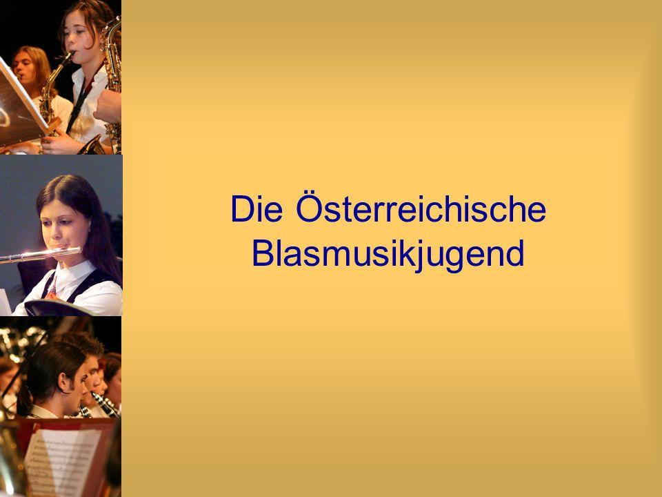 Österreichischer Jugend- Blasorchester-Wettbewerb Im zweijährigen Rhythmus OST - für Niederösterreich, Burgenland und Wien SÜD - für Steiermark und Kärnten WEST - für Tirol, Vorarlberg, Südtirol und Liechtenstein NORD - für Salzburg und Oberösterreich 2003: 74 Jugendorchester mit 2200 JungmusikerInnen 2005: 120 Jugendorchester mit 4500 JungmusikerInnen
