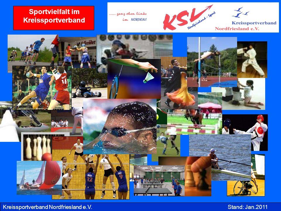 Kreissportverband Nordfriesland e.V.Stand: Jan.2011 Sportvielfalt im Kreissportverband