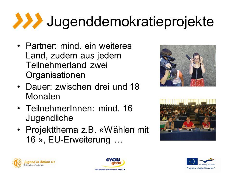 Jugenddemokratieprojekte Partner: mind.