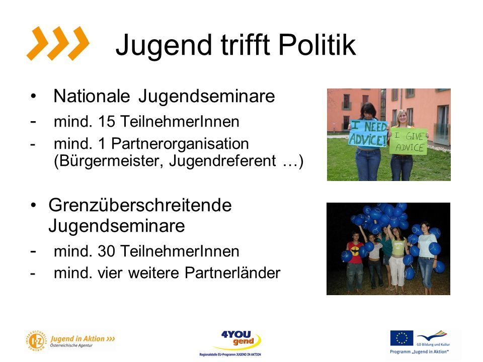 Jugend trifft Politik Nationale Jugendseminare - mind.