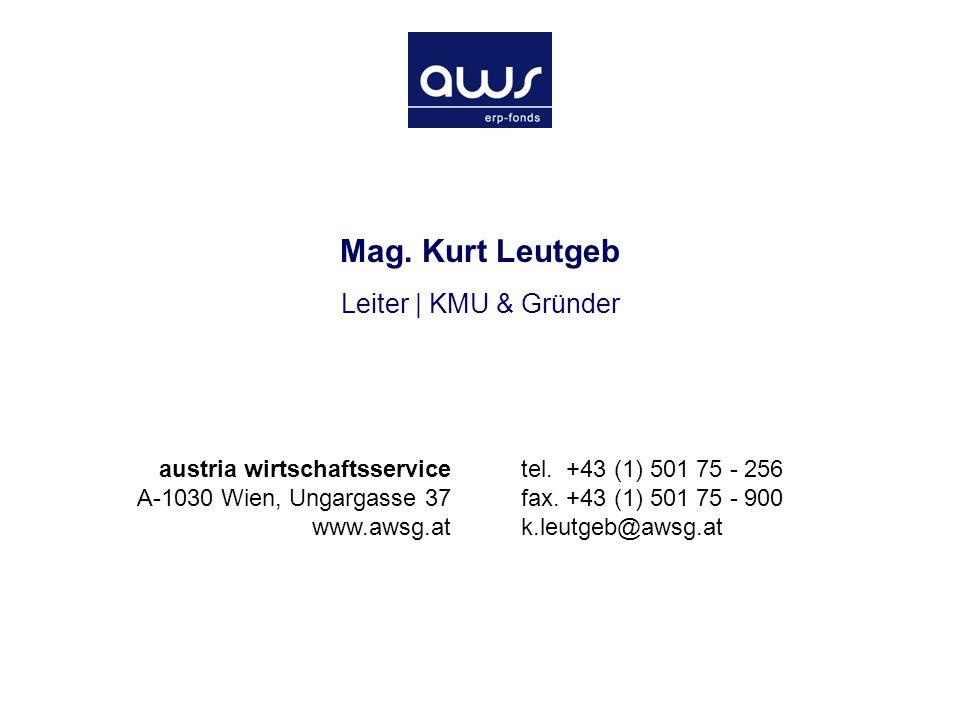 Die Austria Wirtschaftsservice Gesellschaft mbH März 2005 Seite 22 Mag.