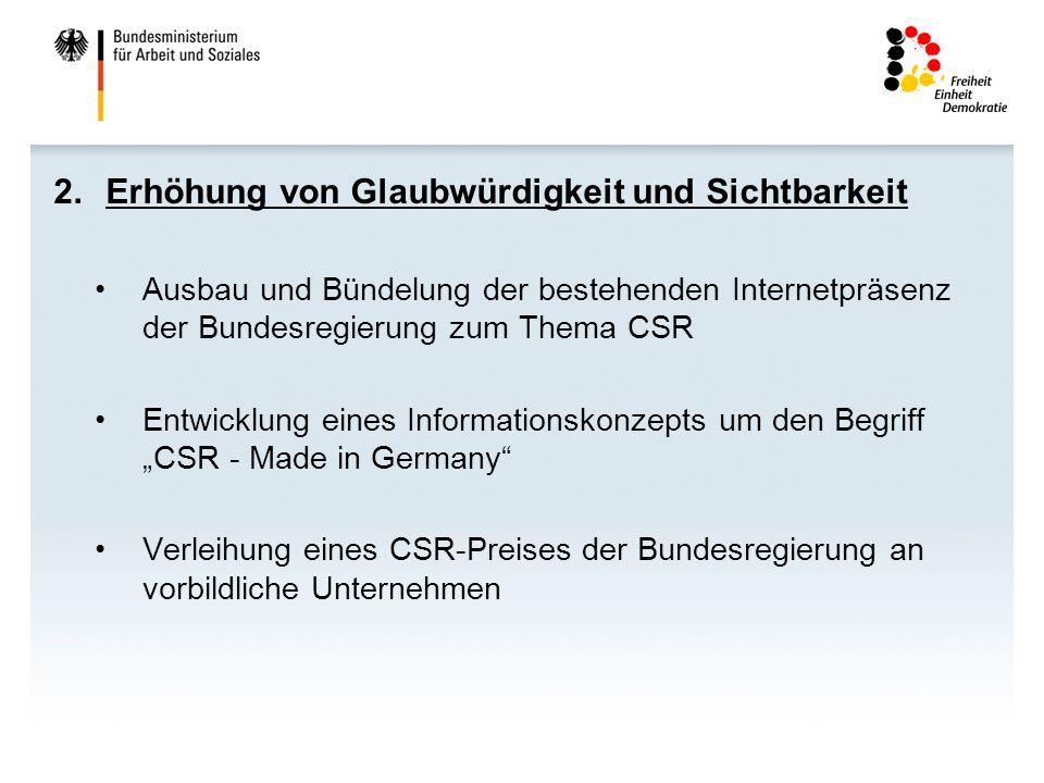 3.Integration von CSR in Bildung, Qualifikation, Wissenschaft und Forschung Förderung der Aus- und Weiterbildung im Hinblick auf CSR-Fragestellungen (z.