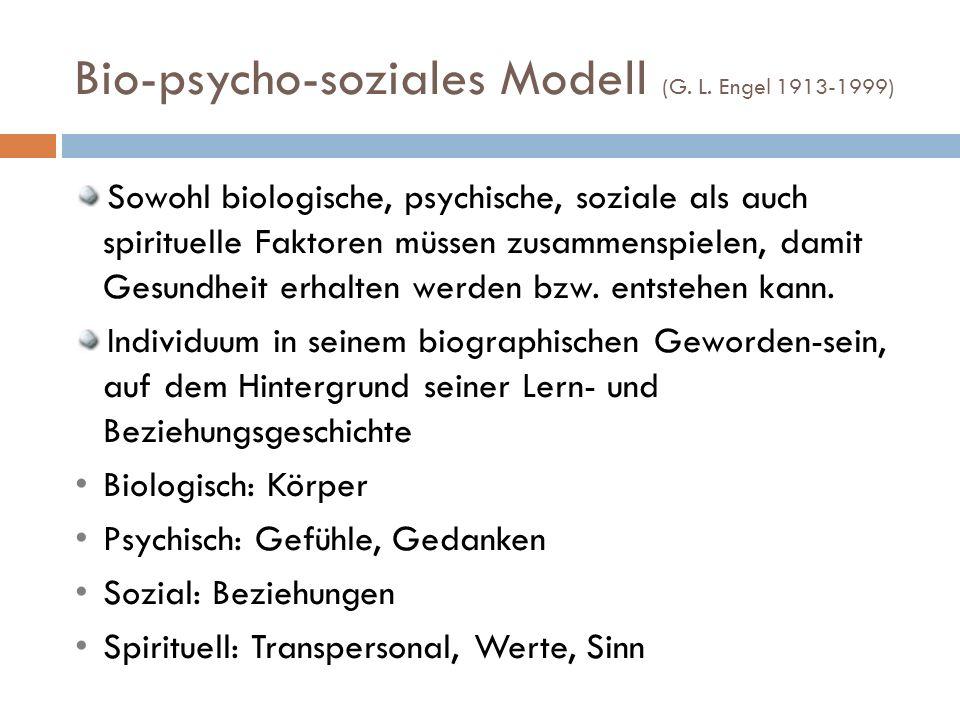 Bio-psycho-soziales Modell (G.L.