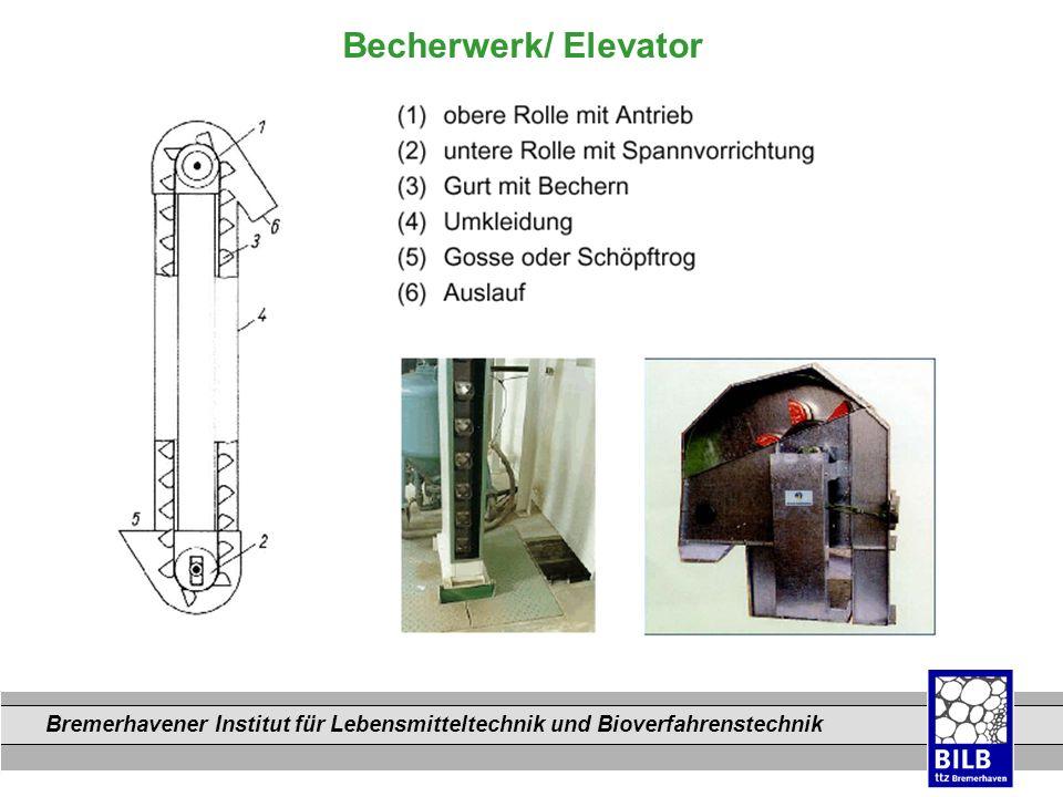 Bremerhavener Institut für Lebensmitteltechnik und Bioverfahrenstechnik Dateinamen Becherwerk/ Elevator