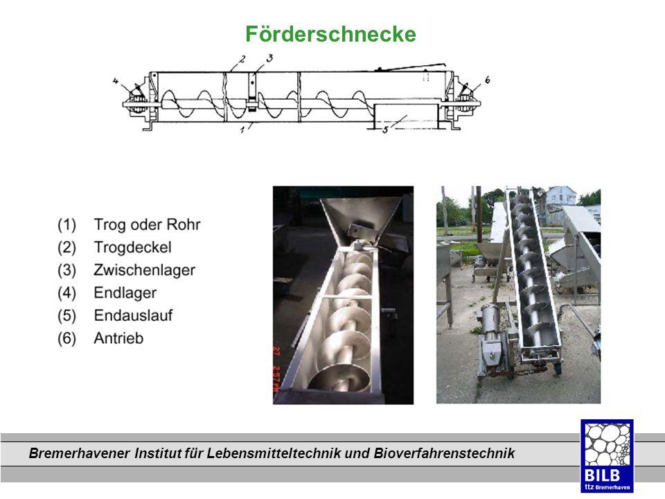 Bremerhavener Institut für Lebensmitteltechnik und Bioverfahrenstechnik Dateinamen Förderschnecke
