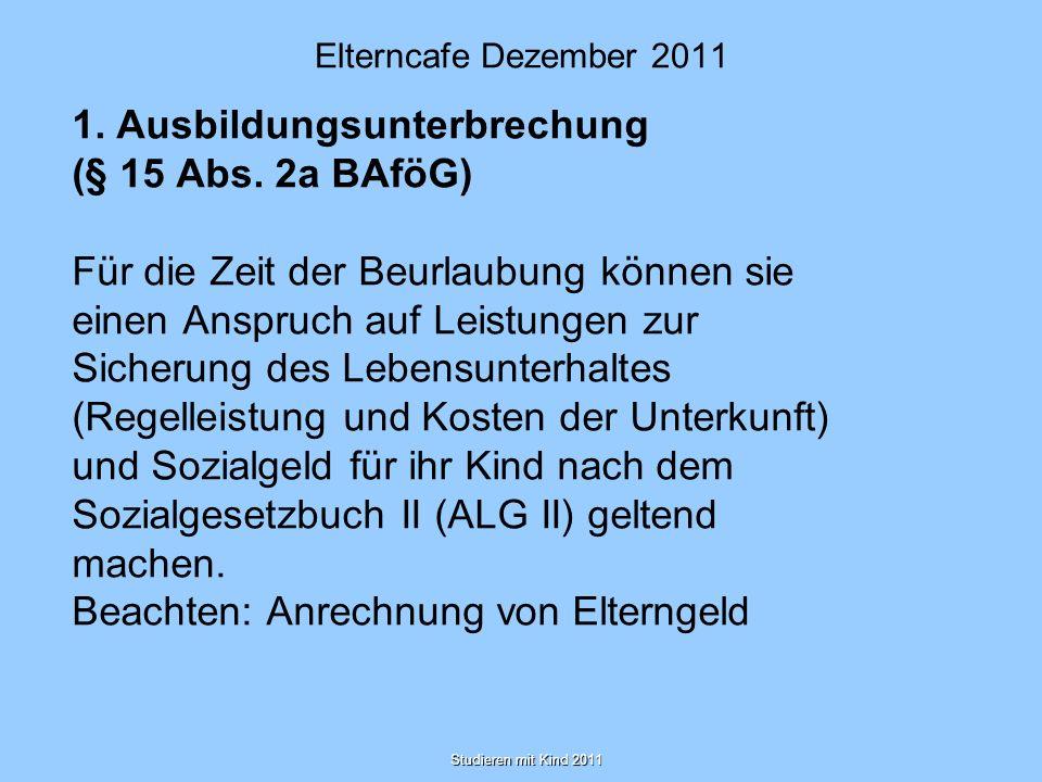 Elterncafe Dezember 2011 2.Leistungsnachweise (§ 48 Abs.