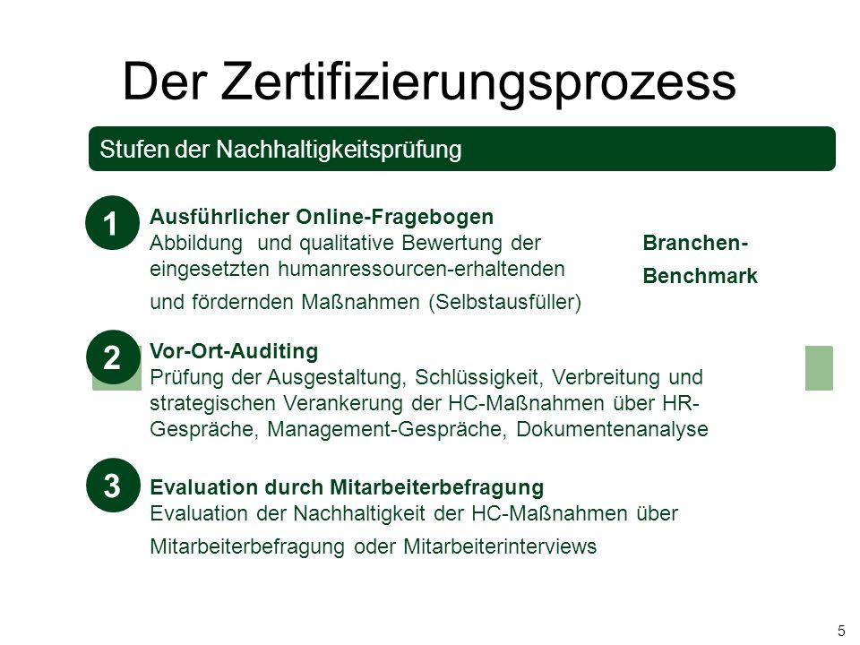 Der Zertifizierungsprozess Stufen der Nachhaltigkeitsprüfung Ausführlicher Online-Fragebogen Abbildung und qualitative Bewertung der eingesetzten huma
