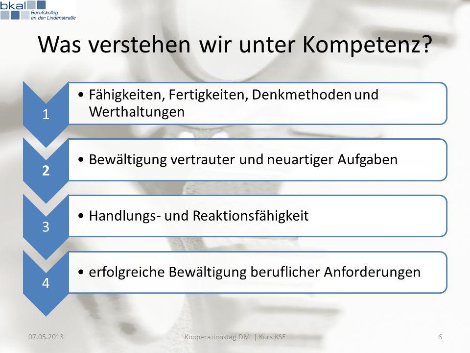 Evaluation: Zeitrahmen 07.05.201327Kooperationstag DM | Kurs KSE