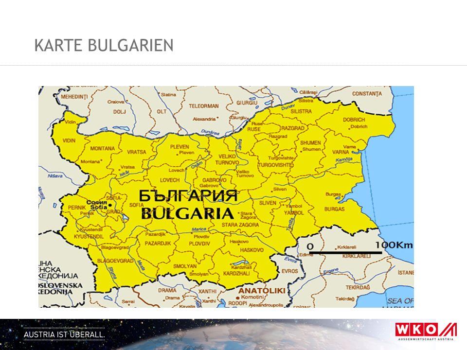 KARTE BULGARIEN