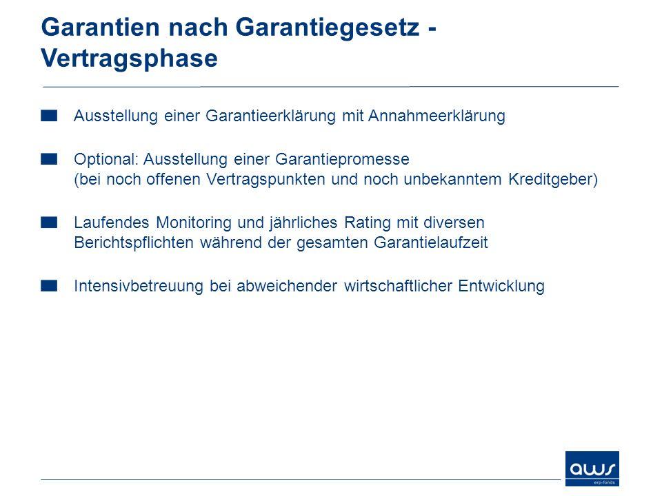 Garantien nach Garantiegesetz - Vertragsphase Ausstellung einer Garantieerklärung mit Annahmeerklärung Optional: Ausstellung einer Garantiepromesse (b