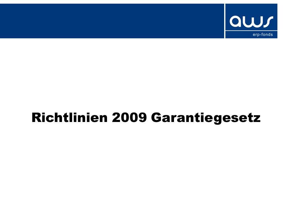 Richtlinien 2009 Garantiegesetz