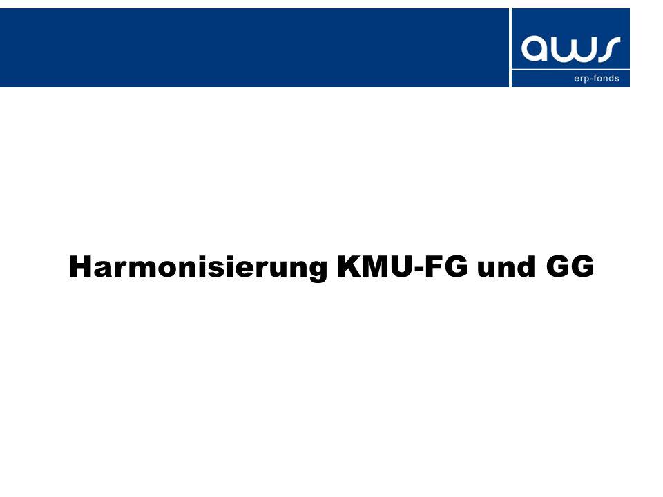 Harmonisierung KMU-FG und GG