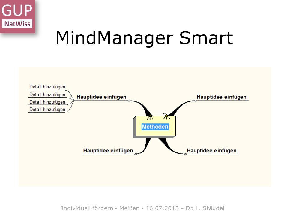 MindManager Smart Individuell fördern - Meißen - 16.07.2013 – Dr. L. Stäudel