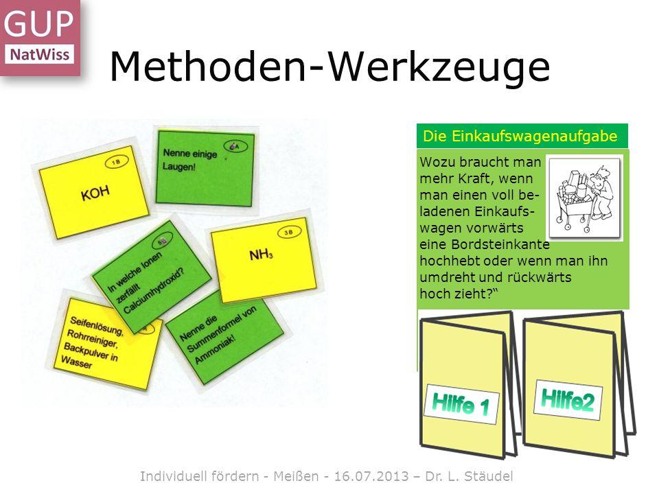 Ein Beispiel zum Ausprobieren Individuell fördern - Meißen - 16.07.2013 – Dr. L. Stäudel