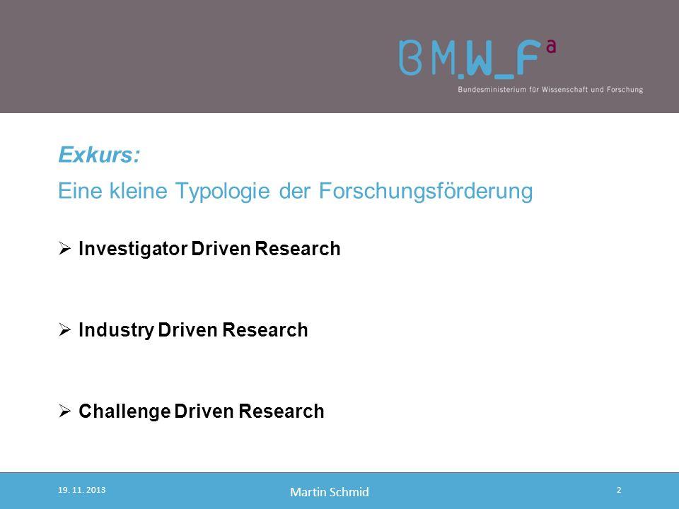 Joint Programming Zwischenstand 19. November 2013 BMWF Martin SCHMID BMWF, EU-Forschungspolitik