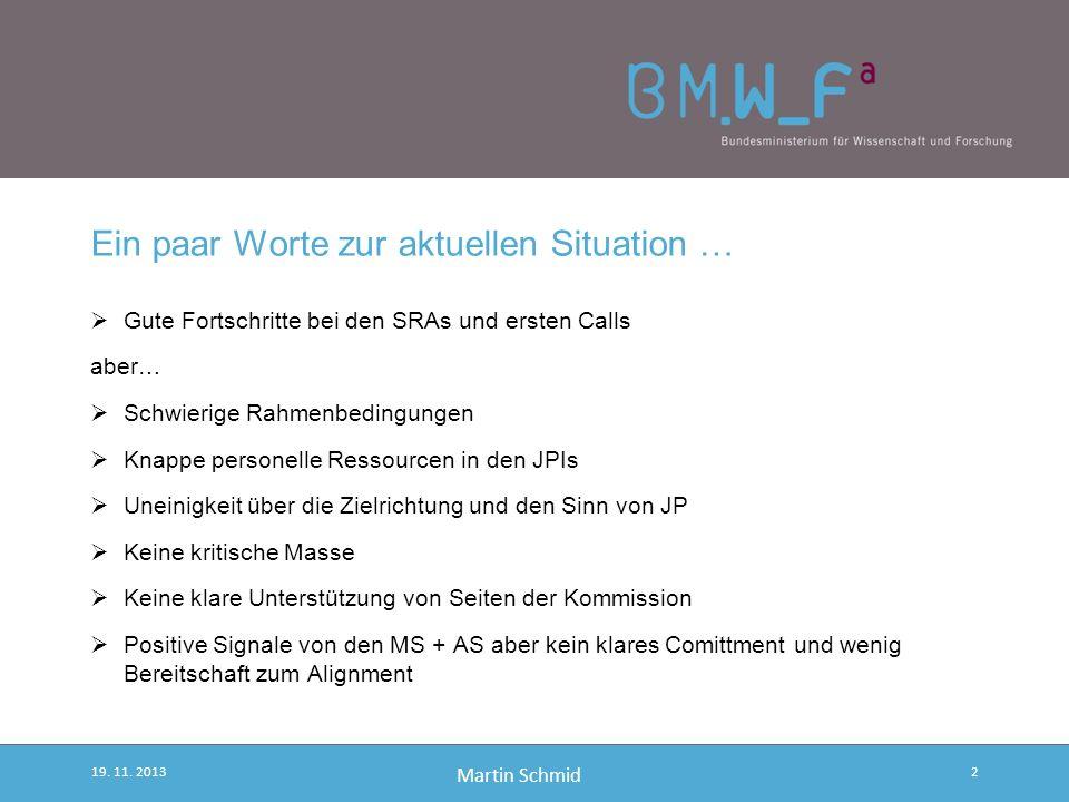 Martin Schmid Oder gleich von Anfang an… Joint Programming! 19. 11. 20132