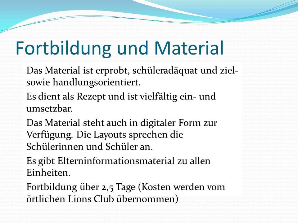 Fortbildung und Material Das Material ist erprobt, schüleradäquat und ziel- sowie handlungsorientiert. Es dient als Rezept und ist vielfältig ein- und
