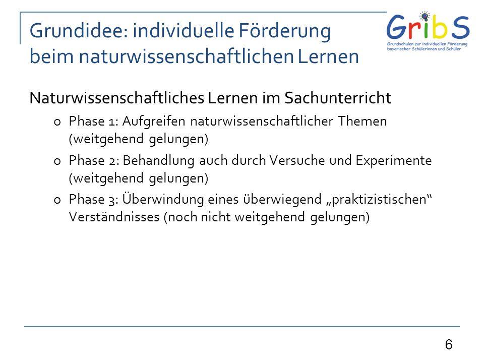 17 Zusammenfassung Begrifflichkeiten Hauptziele der verschiedenen Formen: Versuch o Entwickeln von (weiterführenden) Fragen (z.B.