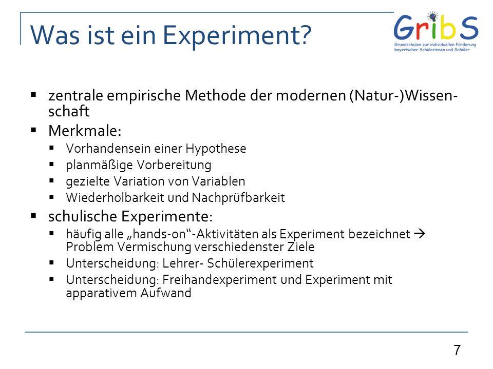7 Was ist ein Experiment.