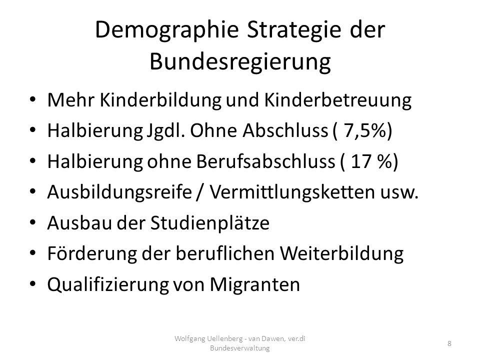 Demographie Strategie der Bundesregierung Zuwanderung: – Arbeitnehmerfreizügigkeit ab 1.Mai 2011: – Rd.