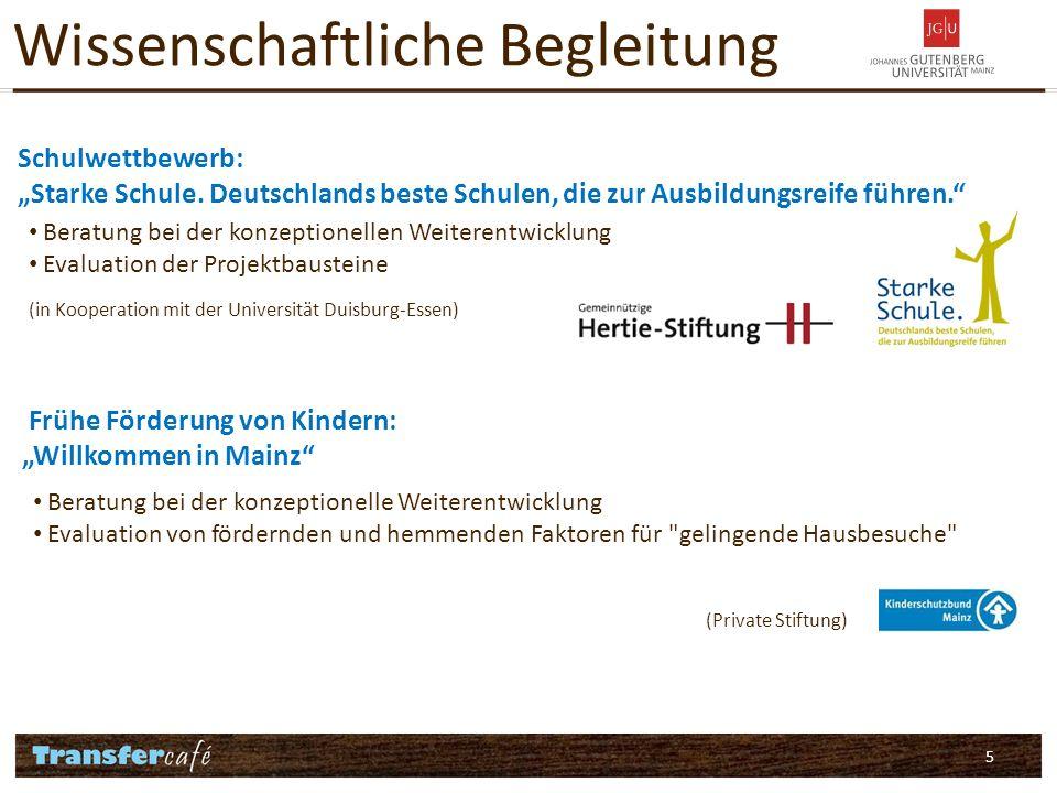 5 Wissenschaftliche Begleitung Schulwettbewerb: Starke Schule.