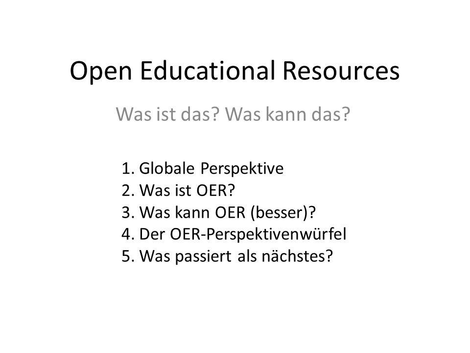 Chancen & Risiken von OER ChancenRisiken Verbesserung des Zugangs zu hochqualitativen Bildungsinhalten, insbes.