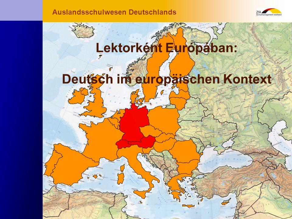 Wie lernt man Deutsch? Warum gerade Deutsch? Ausblick Grundlagen Abschluss- Abschluss- bereich Fachunterricht Deutsch als Muttersprache Lektorként Eur