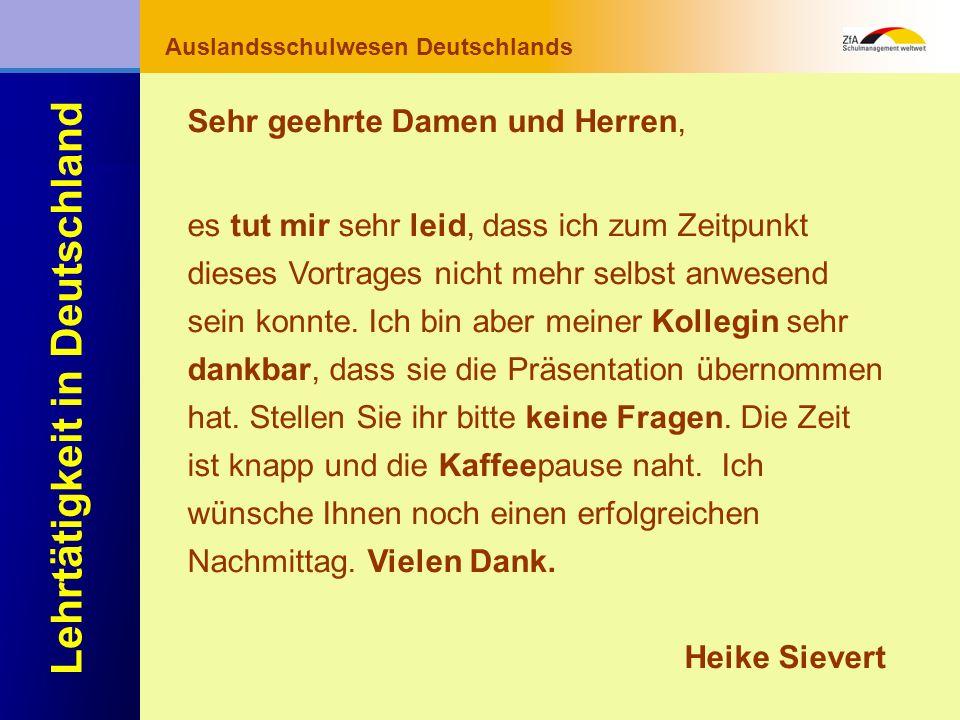 Wie lernt man Deutsch? Warum gerade Deutsch? Ausblick Grundlagen Abschluss- bereich Fachunterricht Auslandsschulwesen Deutschlands Lehrtätigkeit in De