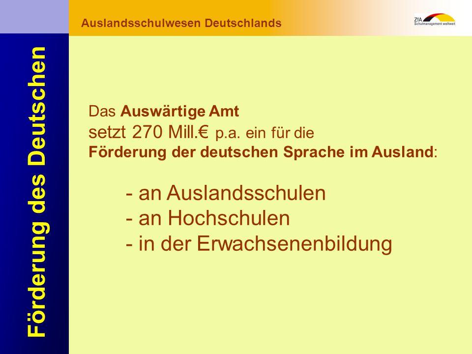 Wie lernt man Deutsch? Warum gerade Deutsch? Ausblick Grundlagen Abschluss- bereich Fachunterricht Auslandsschulwesen Deutschlands Förderung des Deuts