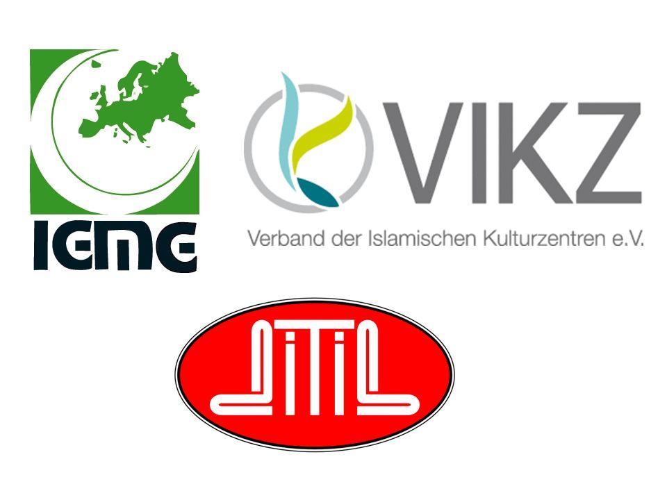 Quellen http://www.ditib.de/default.php?id=5&lang=de http://de.wikipedia.org/wiki/T%C3%BCrkisch- Islamische_Union_der_Anstalt_f%C3%BCr_Religion http://www.ditib- iserlohn.de/de/ueber-uns http://de.wikipedia.org/wiki/DITIB- Zentralmoschee_Essen http://www.ditib-hoerde.de/ http://www.zentralmoschee- koeln.de/ http://www.ditib.de/default.php?id=5&lang=de http://de.wikipedia.org/wiki/T%C3%BCrkisch- Islamische_Union_der_Anstalt_f%C3%BCr_Religionhttp://www.ditib- iserlohn.de/de/ueber-unshttp://de.wikipedia.org/wiki/DITIB- Zentralmoschee_Essenhttp://www.ditib-hoerde.de/http://www.zentralmoschee- koeln.de/ http://www.vikz.de/ http://de.wikipedia.org/wiki/Verband_der_Islamischen_Kulturzentren http://europenews.dk/de/node/22176 http://www.vikz.de/ http://de.wikipedia.org/wiki/Verband_der_Islamischen_Kulturzentren http://europenews.dk/de/node/22176 http://www.igmg.org/uploads/media/Selbstdarstellung-IGMG-Deutsch.pdf http://de.wikipedia.org/wiki/IGMG#Diaspora:_Vereine http://www.verfassungsschutz.niedersachsen.de/portal/live.php?navigation_id=12 327&article_id=54208&_psmand=30 http://www.verfassungsschutz.niedersachsen.de/portal/live.php?navigation_id=12 327&article_id=54208&_psmand=30 http://upload.wikimedia.org/wikipedia/commons/0/04/Ditib_moschee_koeln_20 12-03.jpg http://upload.wikimedia.org/wikipedia/commons/0/04/Ditib_moschee_koeln_20 12-03.jpg http://www.architektur-bildarchiv.de/data/picture/detail/1776.jpg http://upload.wikimedia.org/wikipedia/commons/thumb/4/44/Fatih- Moschee_Bremen.png/220px-Fatih-Moschee_Bremen.png http://upload.wikimedia.org/wikipedia/commons/thumb/4/44/Fatih- Moschee_Bremen.png/220px-Fatih-Moschee_Bremen.png