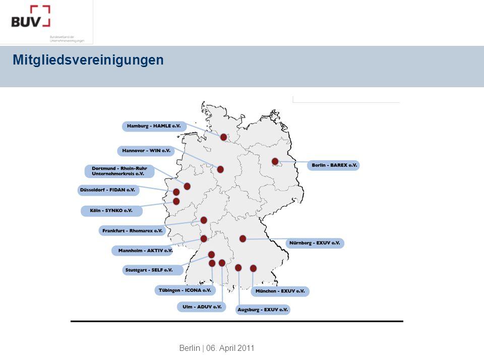 Berlin | 06. April 2011 Mitgliedsvereinigungen